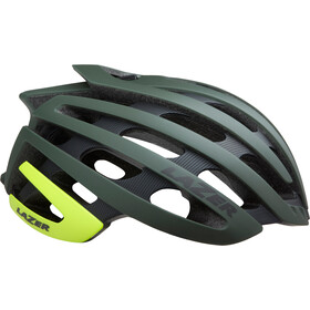 Lazer Z1 MIPS Fietshelm, matte dark green flash yellow